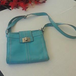 Tignanello leather  crossbody purse